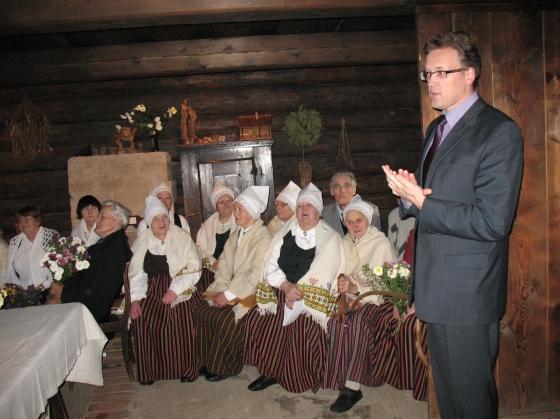 Par muzejiem runā Ērgļu novada pašvaldības priekšsēdētājs G. Velcis