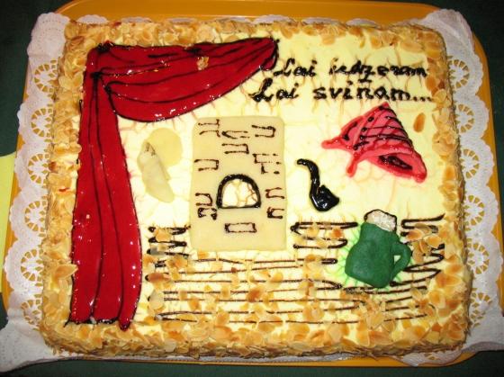 Svētku torte Silmaču noskaņās