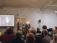 Pasākumu atklāj Jānis Siliņš, Latvijas Kultūras akadēmijas rektors